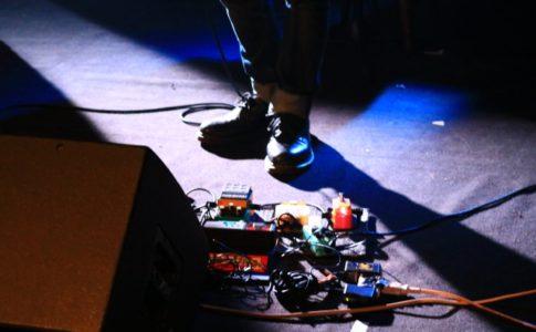 ライブでエフェクターを使用する画像