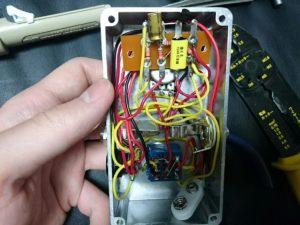自作エフェクターの内部配線