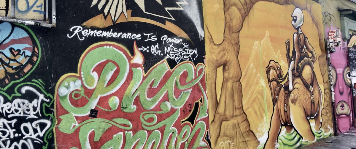 カリフォルニア州の壁の落書き